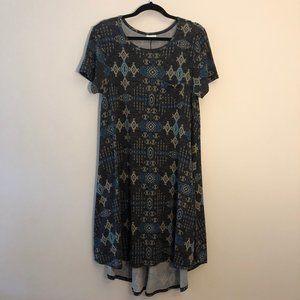 LuLaRoe Carly Aztec Print Knit Dress